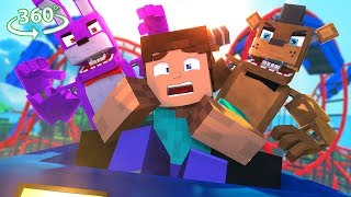 Five Nights At Freddyand39s Roller Coaster  - Minecraft 360° Video Roller Coaster