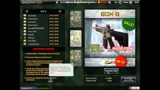 blackshot assassin package unboxing and gachapon