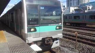 【鉄道】E233系2000番台(マト9編成)常磐緩行線 金町駅 発車シーン!