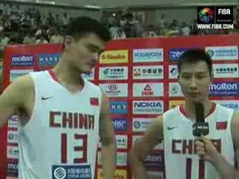 YAO Ming & YI Jianlian Post-game interview