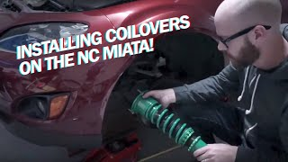 Installing Coilovers on the NC Miata!!!