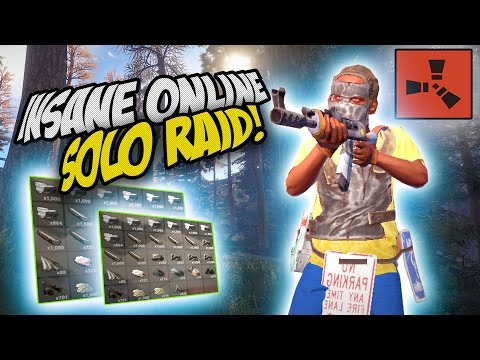 AMAZING ONLINE SOLO RAID! - Rust SOLO Survival Gameplay Ep. 30