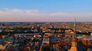 Aerial Footage of Riga & Lubana, Latvia (August 2017)