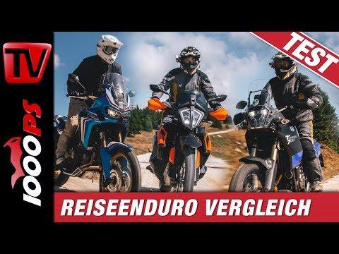 Reiseenduro Vergleichstest - Africa Twin vs. Ténéré vs. KTM 790 Adventure - Auf Schotter getestet