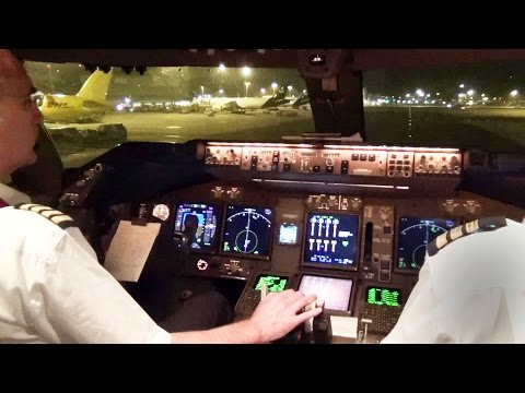Boeing 747-400 Take-Off & Start-Up Hong Kong w/ ATC - KLM Ca