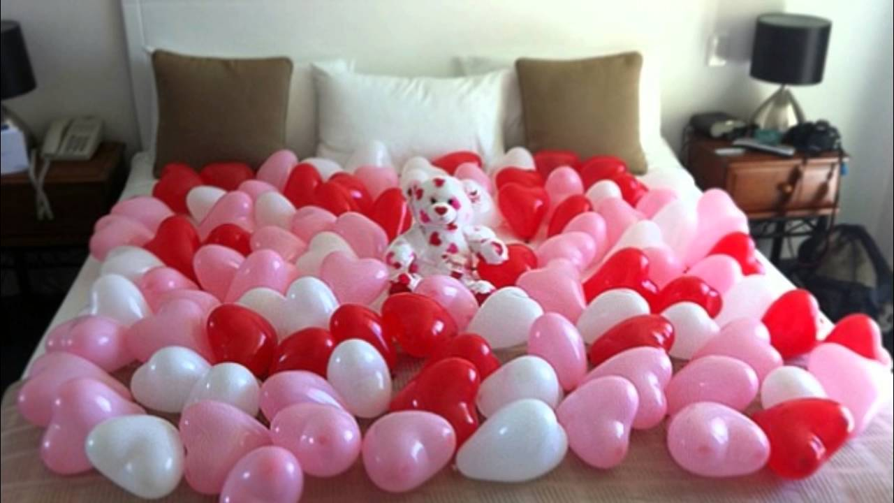 Ideas con globos para el dia del amor san valentin youtube for Decoracion para pared san valentin