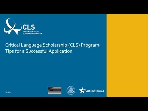 Application Tips - CLS Program