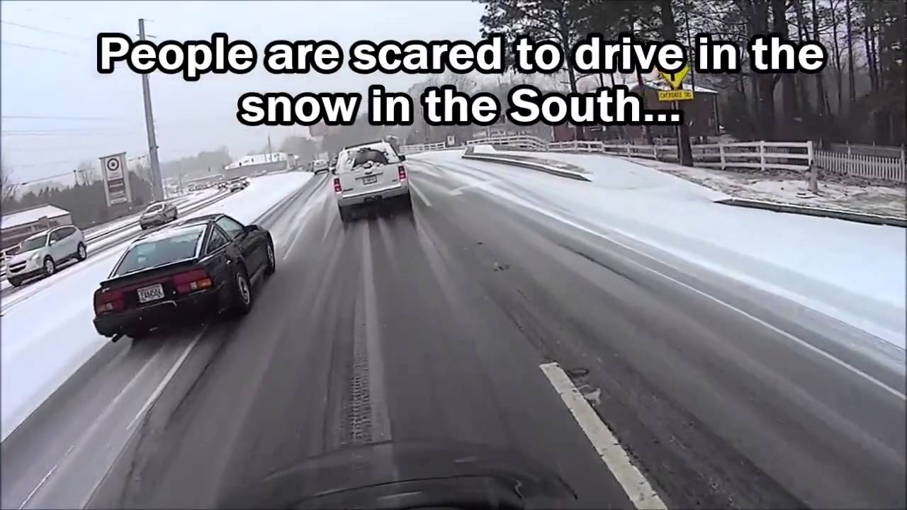 driving in the snow the north versus the south youtube. Black Bedroom Furniture Sets. Home Design Ideas