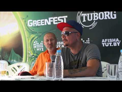 Пресс-конференция группы Trubetskoy на GreenFest в Минске