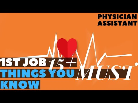 What You Must Know And Ask For Your 1st Job Physician Assistant