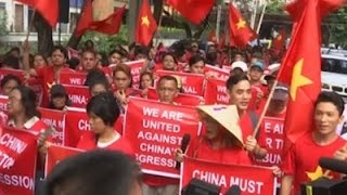 Raw: South China Sea Protest in Manila