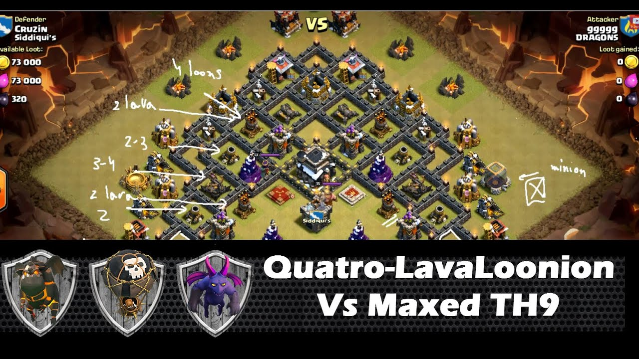 3 stars in war using LAVALOONION!! the FULL guide!!