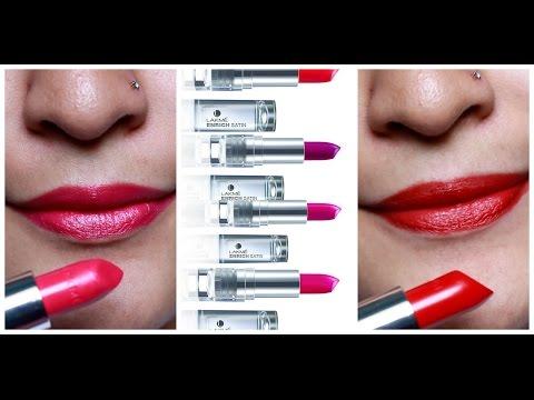 *new*-lakme-enrich-satin-lipsticks- -review-&-demo