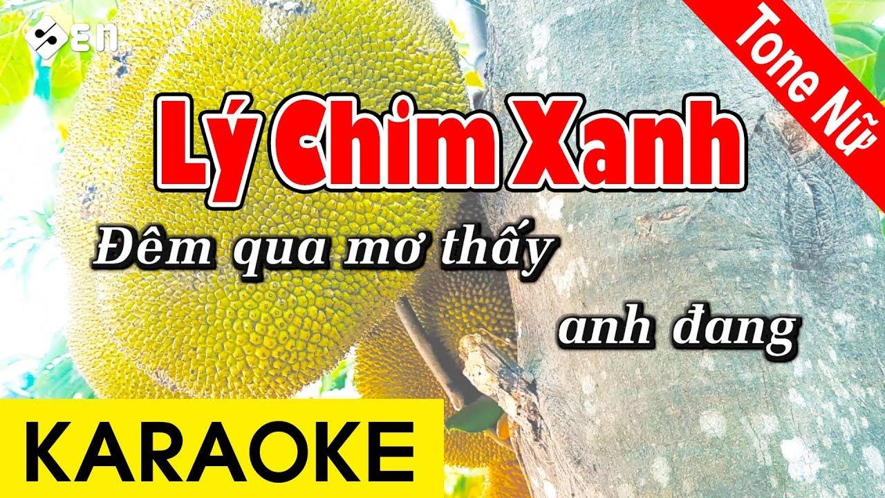 Lý Chim Xanh | Karaoke Beat Chuẩn Tone Nữ