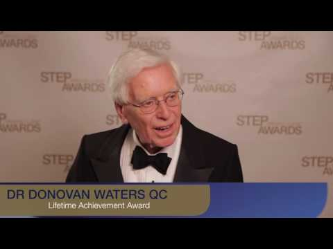 Dr Donovan Waters QC wins a Lifetime Achievement Award at the 2016/17 Private Client Awards