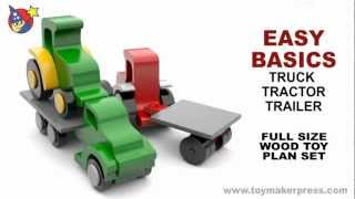 Wood Toy Plans - Farmtruck, Tractor & Trailer
