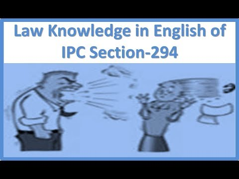 Law Knowledge in English of IPC Section 294 - YouTube