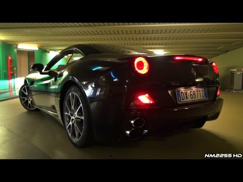 Revving a Ferrari California in Close Parking Garage