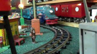 Blue Night at Dave's Featuring Standard Gauge Trains