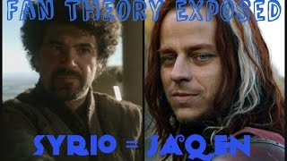 Syrio = Jaqen H'ghar = Faceless Man? Alive or Dead Theories (GAME OF THRONES)