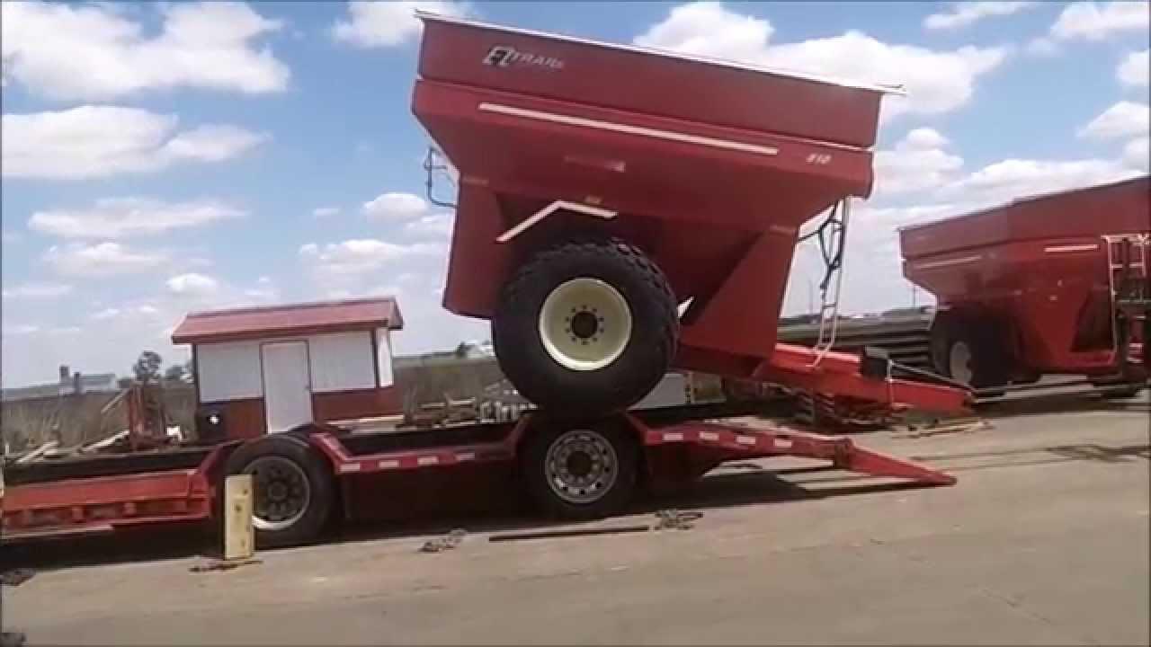 Loading Three Grain Carts At EZ-Trail