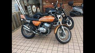 美少女マッハ乗り 無敵のチャンバーサウンドを聞け カワサキ・マッハⅡ Kawasaki MACHⅡ カワサキ・400SS