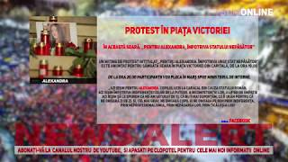 """Un miting de protest intitulat """"Pentru Alexandra  Împotriva unui stat nepăsător"""""""