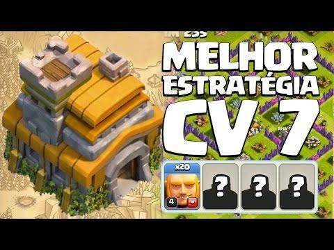 MELHOR ESTRATÉGIA DE ATAQUE PRA CV 7 | CLASH OF CLANS