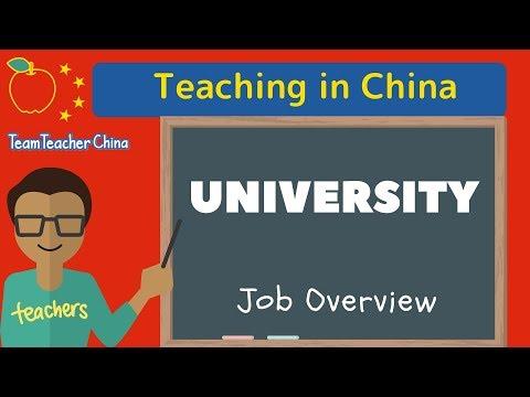 Teach University China | Job Overview