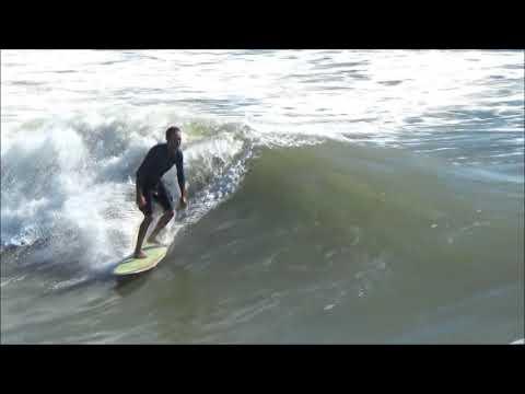 Hurricane Nate Surf at Bob Hall Pier 10/08/2017