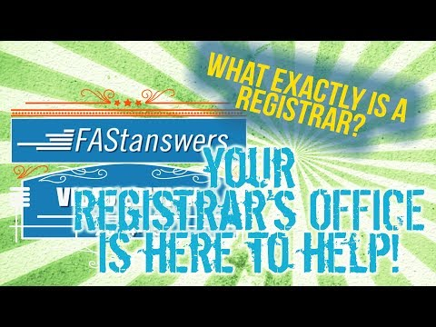 What is a Registrar?