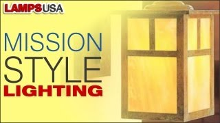 Mission Style Lighting Perfectly Blends Simplicity And Elegance