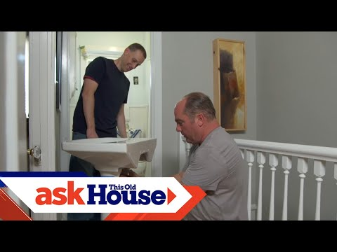 How To Replace A Pedestal Sink | Ask This Old House