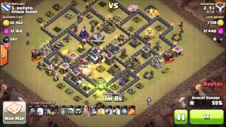 Queen Walk GoVaHo 3 Star on Maxed TH9 | TH10 vs TH9 | Clash of Clans