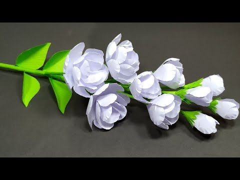 How to Make Very Beautiful Jasmine Stick Flower Making with Paper!! DIY | Abigail Paper Crafts