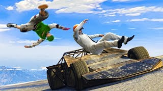RAMP CAR vs. RUNNERS! (GTA 5 Funny Moments)