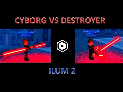 Cyborg Vs Destroyer Lightsaber Showdown Ilum 2 Roblox Star Wars