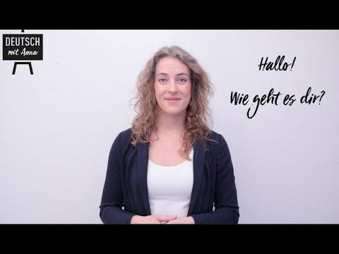 How are you? Wie geht es dir? Learn German with Anna #2