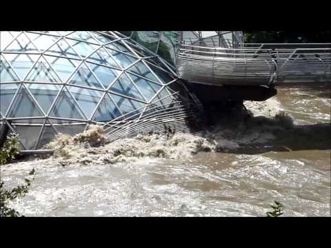 Graz - Mur - Hochwasser - MurInsel - Vito Acconci - 22.07.2012