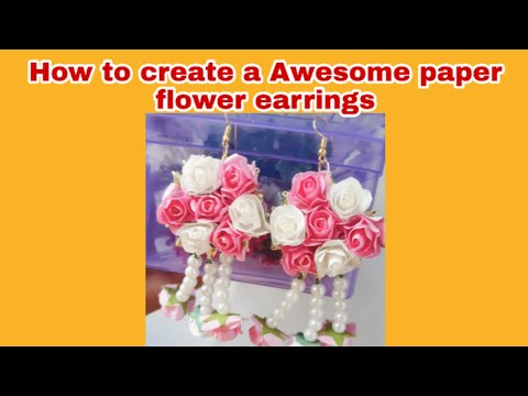 How to Make Paper Flower Earrings
