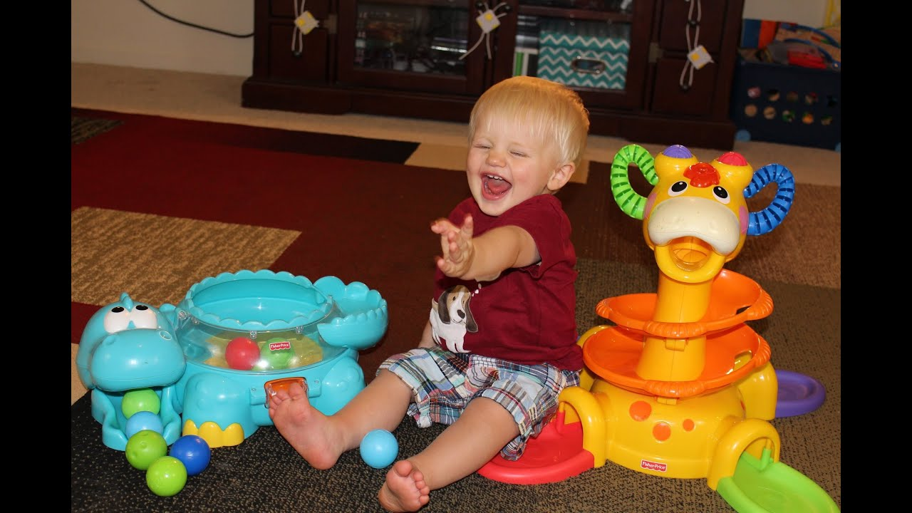 Fisher Price Go Baby Go Poppity Pop Dino & Sit To Stand Giraffe