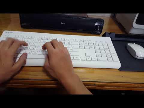 아이리버 EQWear-WMK30 무선 키보드 마우스 세트 + EQWear-Multipad 다용도 마우스패드를 이용한 간단한 사무환경 구축
