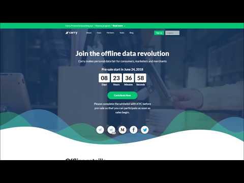 Carryprotocol ICO (RU) - платформа, которая объединяет продавцов и потребителей, используя блокчейн.