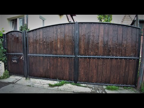 Making a steel and wood gate