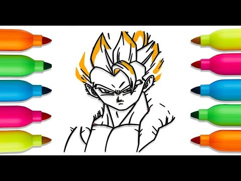 How to Draw goku, dragon ball z, Coloring Book for Children | Art ...