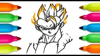 How to Draw goku, dragon ball z, Coloring Book for Children | Art Colours for Kids | goku