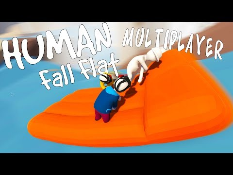 EPIC RAFT RIDING ADVENTURE! - Human Fall Flat Multiplayer Gameplay