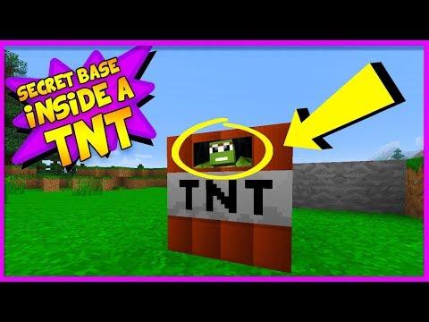 HOW TO LIVE INSIDE A TNT BLOCK! (SECRET TNT BASE CHALLENGE)