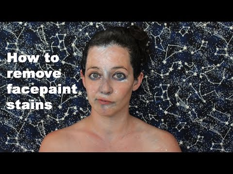 How to Remove Face Paint Stains From Your Skin
