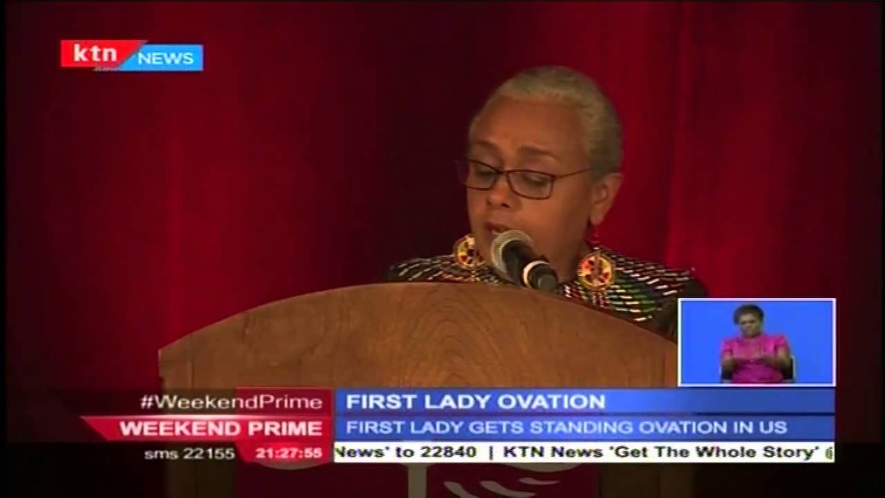 First Lady Margaret Kenyatta receives standing ovation in US